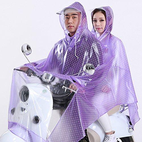 SXZHSM regenjas dubbel transparant regenjas poncho elektrische auto grote hoed regenjas verdikking regenjas moer en kinderen regenjas waterdichte regenponcho (kleur: C, maat: XXXL)