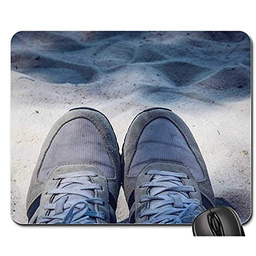 Gummiunterseite Mausmatte,Pad Maus Unterlage,Anti Rutsch Gaming Mausepad,Sneaker Schuhe Sportschuhe Sneaker Style Design Bürocomputer Pad,30X25Cm,Glattes Mousemat