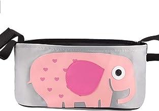 LLMZ Cochecito de Bebé Organizador 1PCS Cochecito de Bebé Bolsa para Accesorios de Bebé (Elefante Rosa)