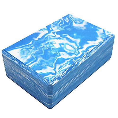 Sebasti Bloques de Yoga de Espuma de Ladrillo EVA Camuflaje Yoga Ladrillo Azul Tamaño: 23x15x7.5cm