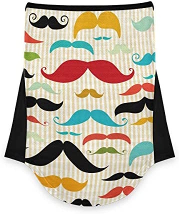 VOUSME Face Mask Bandana Neck Gaiter Father s Day Colorful Mustache Mask Scarf Motorcycle Outdoor product image