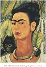 Self-Portrait with Monkey, 1938 by Frida Kahlo, Art Print Poster 16