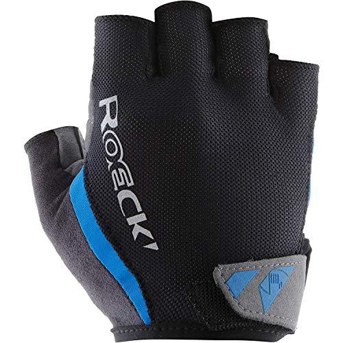 Roeckl Guantes de Ciclismo para Hombres Ilio Cortos Negro/Azul, tamaño:7