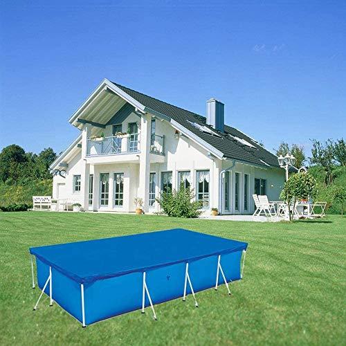 Cobertor Solar Piscina Rectangular, Cubierta Solar Piscina Aislamiento Plástico Burbujas UV Protección...