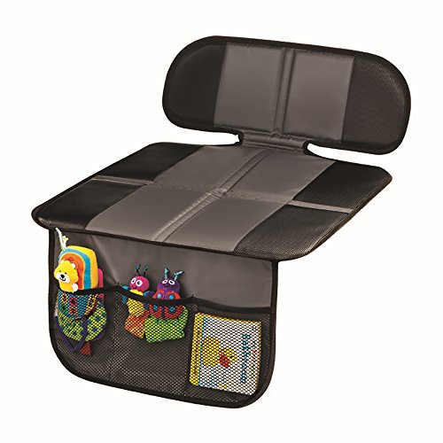 Auto Seat Protector,Durable, Waterproof 600D Fabric,Reinforced Corners & 2 Large Pockets for Handy Storage,1 Count(Do not contain toy ornaments)