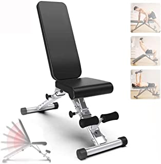 AWSAD Multifunctional Workout Station Adjustable Weight Bench for Abs Exercise Full Body Incline/Flat/Decline Bench Press ...