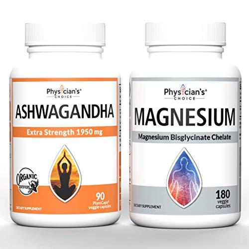Ashwagandha 1950mg Organic Ashwagandha Root + Magnesium Glycinate