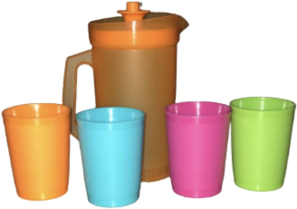5 Piece Party Play Set Children's Mini Tumblers and Pitcher