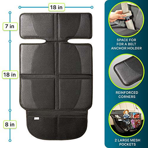 Helteko Car Seat Protector with Thickest Padding, 2 Pack Car Seat Cover for Child Baby Carseat, Auto Seat Protector from Waterproof