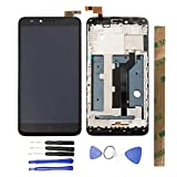 JayTong LCD Display & Replacement Touch Screen Digitizer Assembly with Free Tools for ZTE Zmax Pro Z981 Black with Frame