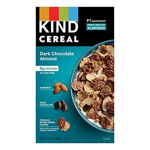 KIND Breakfast Cereal, Dark Chocolate Almond, Gluten Free, 6g Protein, 10 Oz, 4Count