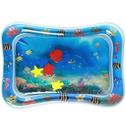 Waymeduo Baby aufblasbare Pads – Baby aufblasbares Wasserkissen aufblasbar mit Wasser gefüllte Spielmatte