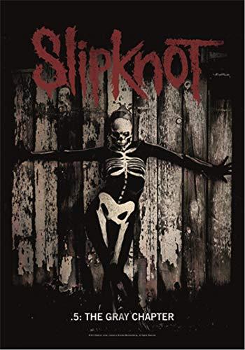 Heart Rock – Bandera original Slipknot The Gray Chapter, tela, multi