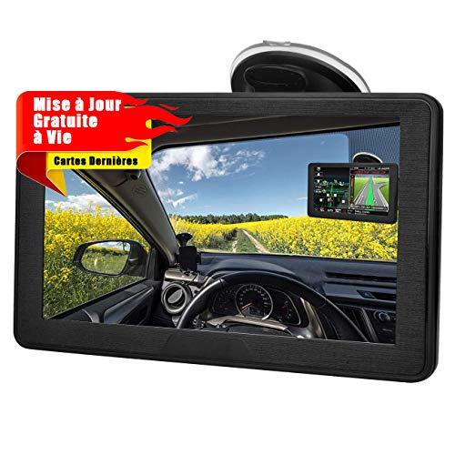 Aonerex GPS Voiture Auto Navigation 7 Pouces Écran Tactile Capacitif 52 Cartographie Europe Mise à...