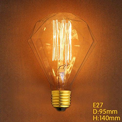 Retro Edison Glühbirne E27 40W G95 Diamant Form Draht Birne Bar Dekoration Edison-Birne