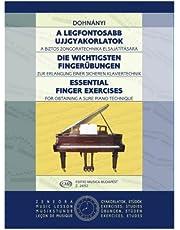 ドホナーニ: 指の練習/ムジカ・ブダペスト社/ピアノ・ソロ