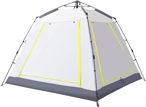 DDT Tente de Camping pour 3-4 Personnes Tente de Plage Pop Up,Beige