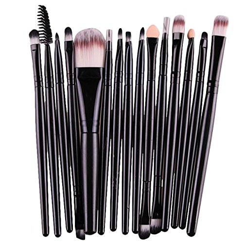MEIYY Pinceau De Maquillage 15Pcs / 6Pcs Ensembles Ombre À Paupières Maquillage Pinceaux Brow Eyeliner Cils Lèvres Fondation Pinceau Cosmétique