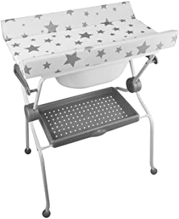 Plastimyr - Bañera plegable bidé, diseño estrellas, color blanco