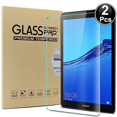 Ash-case - Protector de Pantalla de Cristal para Huawei MediaPad M5 Lite-8 Pulgadas, dureza 9H, antiarañazos, antiaceite, antiburbujas, Borde Redondo 2.5D