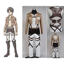 【cosplaysky】 進撃の巨人 attack on titan 訓練兵団 エレン イェーガー コスプレ衣装 男性XL