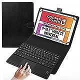 Cooper Touchpad Executive [Teclado y Mouse Multi-táctil] para Tablets de 9-10.5' | iPadOS, Android y Windows | Conexión Bluetooth, Funda de Cuero