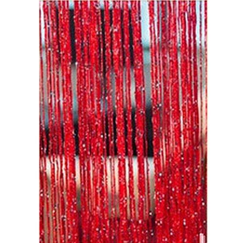 1 x 2M Quaste Türvorhang, Fadenvorhang mit Perlen, Raumteiler Perlenvorhang, Aufhängen am Trennwand Tür Fenster-Wand-Dekor,für die Partyhochzeit Dekoration Home Office