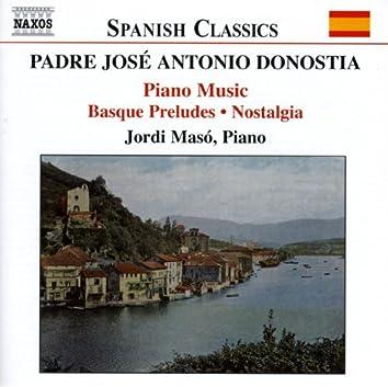 DONOSTIA: Basque Preludes / Nostalgia
