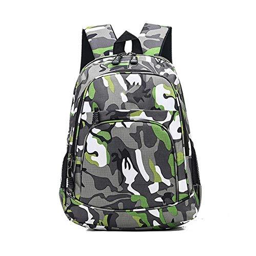 LLTT 2 Tailles Sacs à Dos d'école imperméable Filles garçons Cartable Camouflage Enfants Cartable (Color : Green Small)