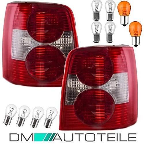 DM Autoteile Passat 3B6 Variant Rückleuchten Set Links & Rechts Rot Weiß +10x Birnen XXL