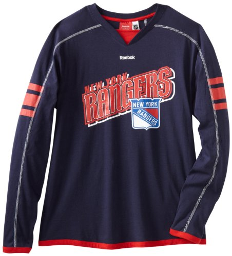 NHL New York Rangers Long Sleeve Jersey T-Shirt, Large