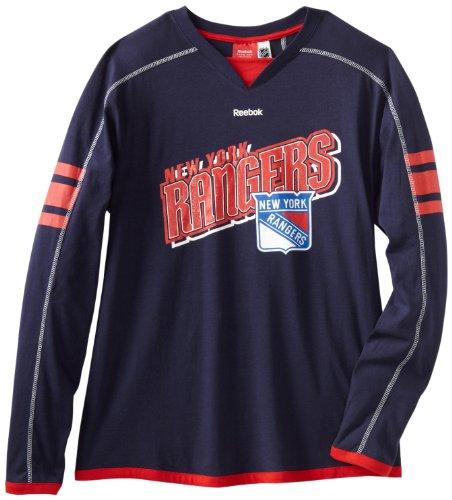 NHL New York Rangers Long Sleeve Jersey T-Shirt, Large