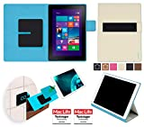 reboon Hülle für Dell Venue 10 Pro Tasche Cover Case Bumper | in Beige | Testsieger