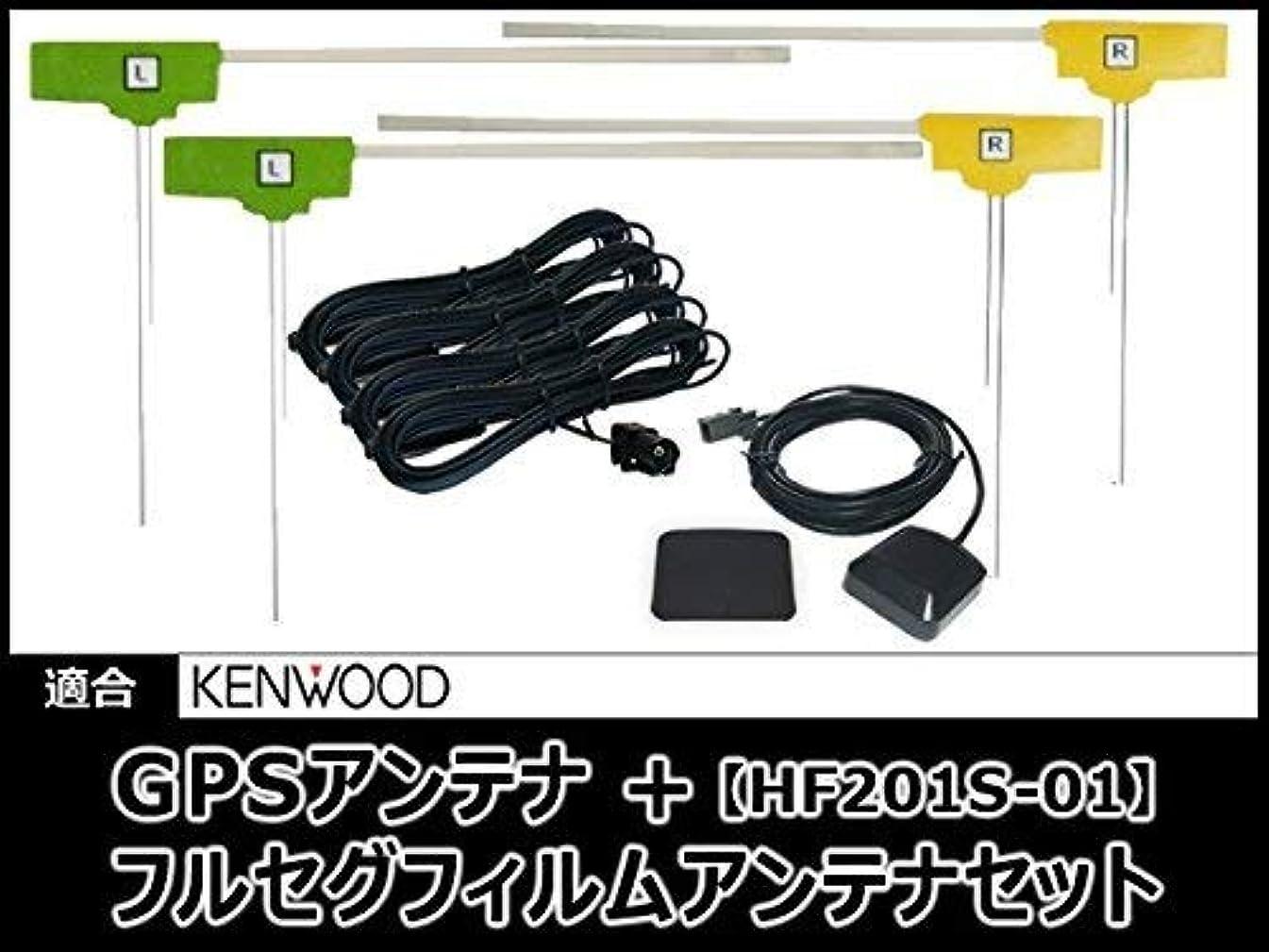 チャーミング分析的機関MDV-L500 対応 GPSアンテナ + 地デジ/フルセグ フィルム アンテナ HF201S-01 タイプ 【低価格高品質タイプ】