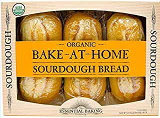 Bake-At-Home Organic Sourdough 3 Loaves 54.6 Oz/1.55 Kg.