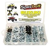 120pc Specbolt Suzuki LT-R450 LTZ400 Z250 ATV Quad Bolt Kit for Maintenance & Restoration OEM Spec Fasteners