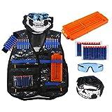 Kit de gilet tactique niceEshop pour enfants - Gamme Elite N-Strike - Pour pistolet Nerf