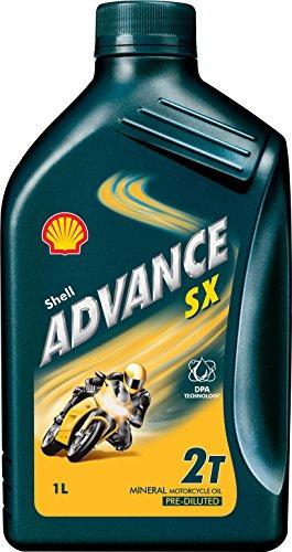 Shell 070.0000003939 Advanced olie Sx2, smeermiddel voor scooter, 1 l, natuur