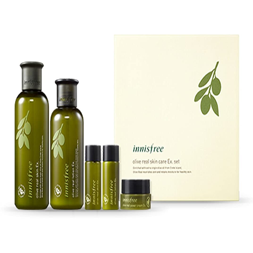 に沿って空洞不愉快にイニスフリーオリーブリアルスペシャルケアセット(5アイテム)Innisfree Olive Real Special Care Ex. Set ( 5 Item ) [海外直送品][並行輸入品]