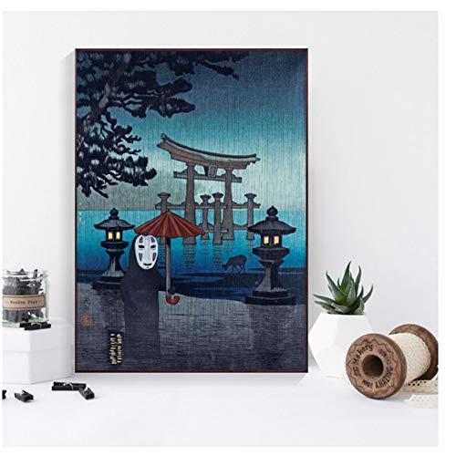 Enge horror spookachtige gift schilderij poster print canvas muur foto voor huisdecoratie-50x70cm-geen frame