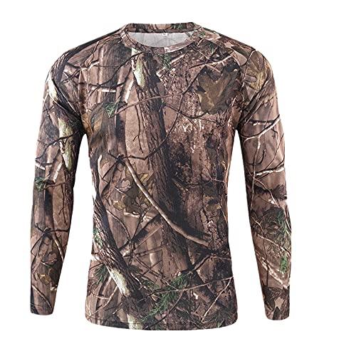 N\P Camisa de camuflaje al aire libre de los hombres al aire libre de secado rápido camuflaje manga larga Tops camiseta