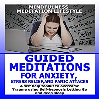 Guided Meditation for Anxiety, Stress Relief, and Panic Attacks audiobook cover art