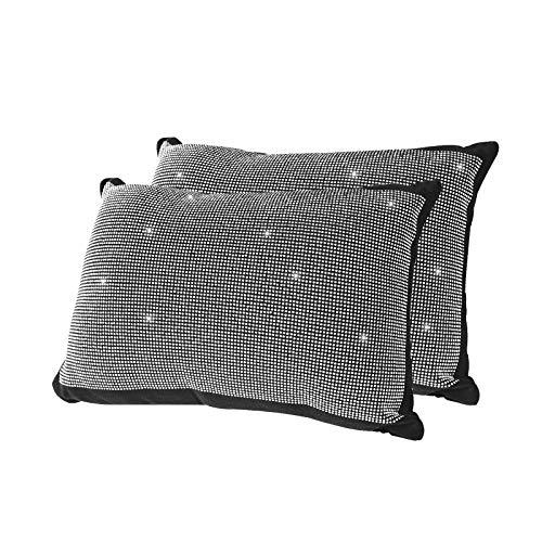 Eing - Funda para volante (38 cm, piel sintética, 15 unidades), diseño de cristales brillantes