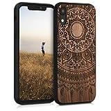 kwmobile Carcasa Compatible con Apple iPhone XR - Funda de Madera de Nogal Sol hindú marrón Oscuro