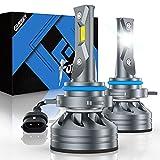 Fahren 9012/HIR2 LED Headlight Bulb, 60W 10000 Lumens Super Bright LED Headlights Conversion Kit 6500K Cool White IP68 Waterproof, Pack of 2