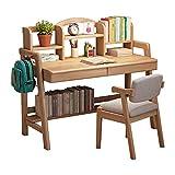 Squisita scrivania per Bambini Bambini Tavolo di Legno con Regalo Bookshelf Studente di Studio dei Computer Workstation Grandi for Ragazzi e Ragazze (Colore : Beige, Dimensione : 120CM)