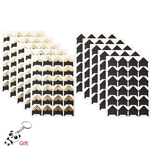 Wowot 10 Blätter selbstklebende Ecken für Fotoalben und Scrapbooks