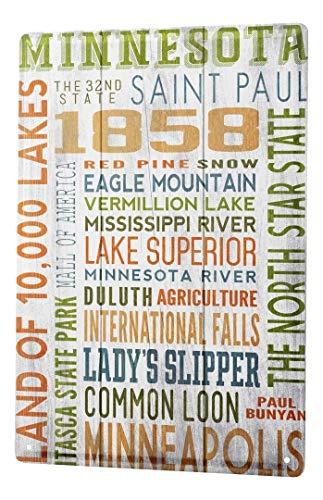 LEotiE SINCE 2004 Plaque en Métal Métallique Poster Mural tin Sign Voyage Cuisine Minnesota