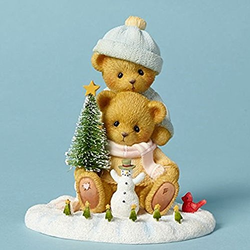Cherished Teddies Liz and Marcos Snow Days Are the Best Bear Christmas Figurine