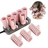 SunshineFace Hair Styling Too,10Pcs Professional Electric Heated Roller Curling Roll Hair Tube...